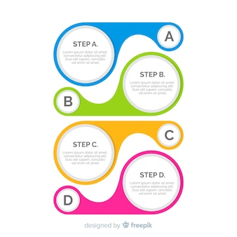 Flat infographic steps