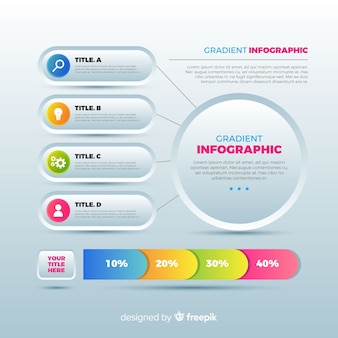 Flat infographic template background
