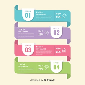 Flat infographic template