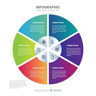 Modello di infografica piatto
