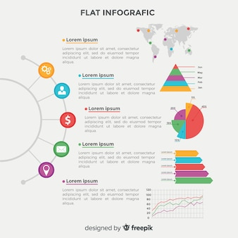 Flat infographic