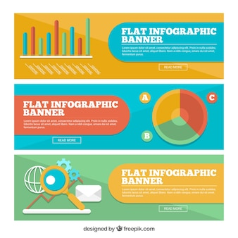 Flat infographics collection