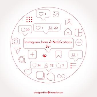 フラットな譜表のアイコンと通知が設定されています