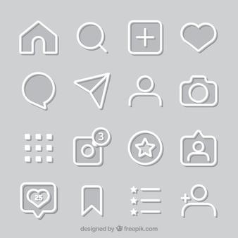 Установлены значки и уведомления о неподвижной иконке