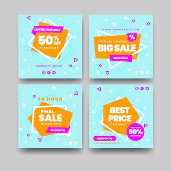 플랫 인스타그램 판매 게시물 컬렉션