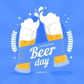 Flat international beer day