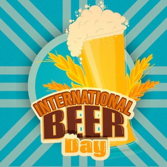 Flat international beer day