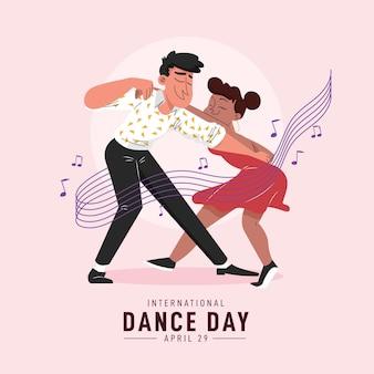 Illustrazione di giorno di ballo internazionale piatto