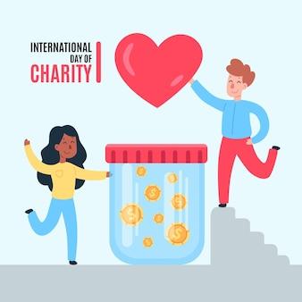 Flat international day of charity