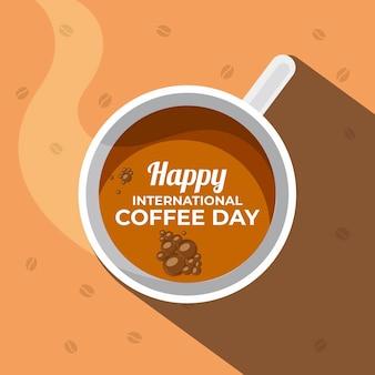 Piatto giornata internazionale del caffè