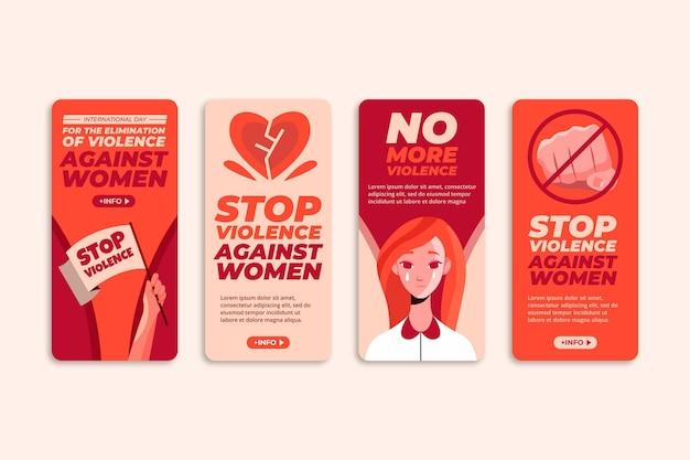 Giornata internazionale piatta per l'eliminazione della violenza contro le donne raccolta di storie instagram