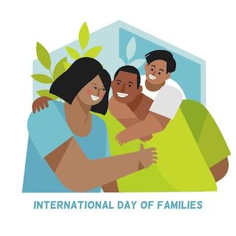 Piatto giornata internazionale delle famiglie illustrazione