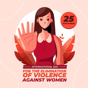 女性に対する暴力撤廃のためのフラットな国際デー背景