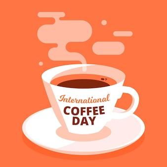 コーヒーの平らな国際的な日