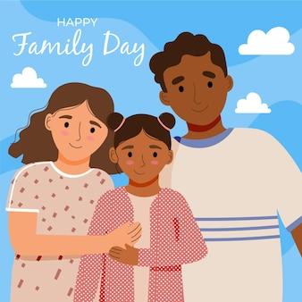 가족 일러스트의 평면 국제 날