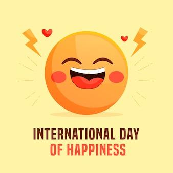 행복 일러스트의 평면 국제 날