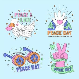 平和ラベルのフラットな国際デー