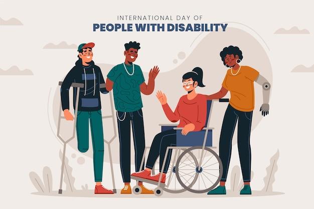 障害者のフラットな国際デー