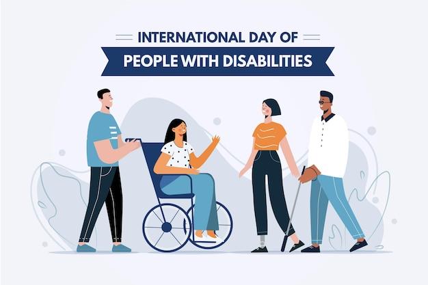 Плоский международный день людей с ограниченными возможностями
