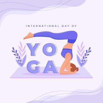 요가 그림의 평면 국제 날