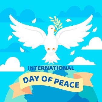 Flat international day of peace