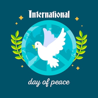 Flat international day of peace