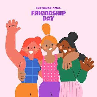 평면 국제 우정의 날 그림