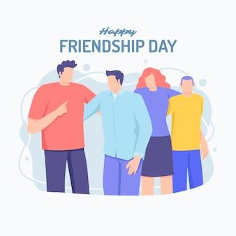 Illustrazione di giornata internazionale dell'amicizia piatta