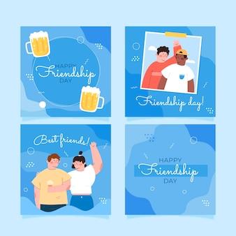 Плоский международный день дружбы в instagram