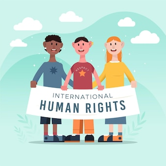 Flat international human rights day