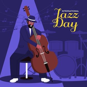 フラットな国際ジャズデーのイラスト
