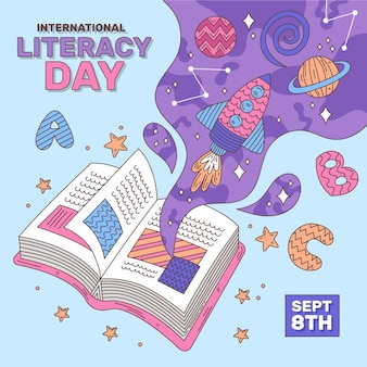 Flat international literacy day