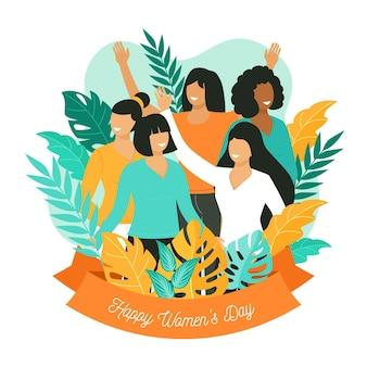 평면 국제 여성의 날 그림