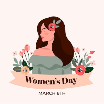 Плоский международный женский день иллюстрация