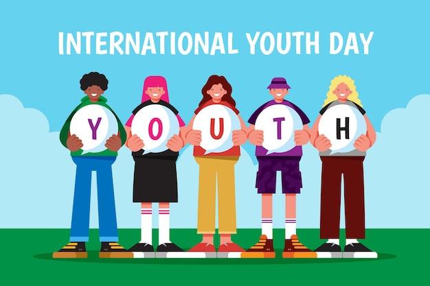 평면 국제 청소년의 날 그림