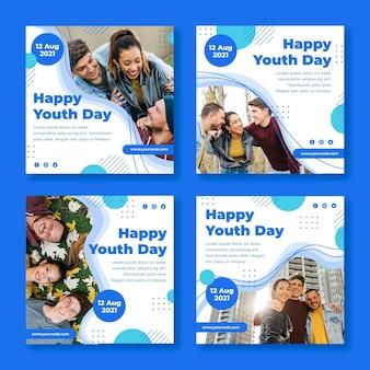 Коллекция плакатов к международному дню молодежи с фото