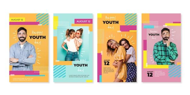 Коллекция историй к международному дню молодежи