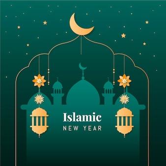 フラットイスラム新年イラスト