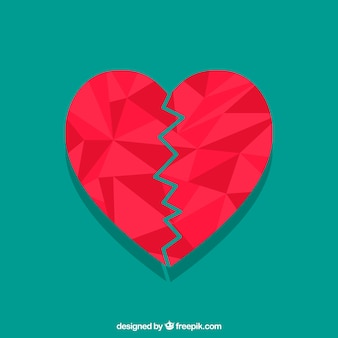 Flat isolated heart background