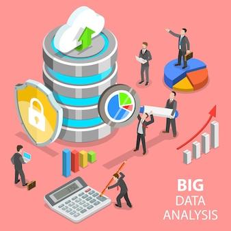 Плоская изометрическая концепция анализа больших данных, распределенная база данных.