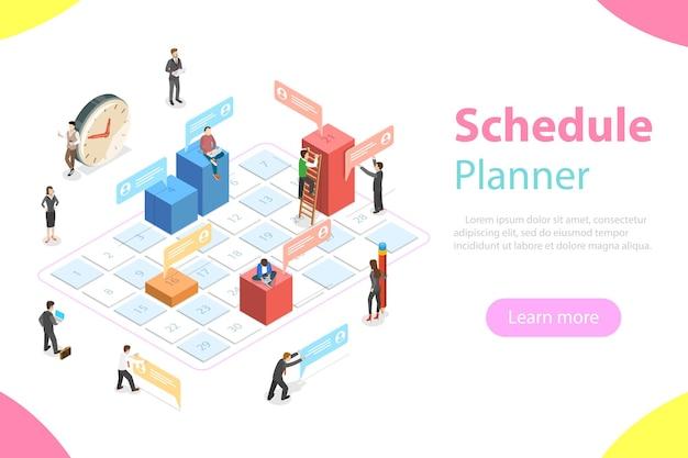 Плоская изометрическая концепция бизнес-планирования