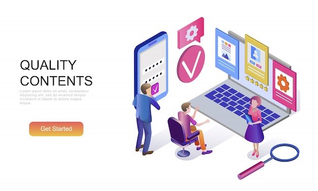 Flat isometric concept of quality content