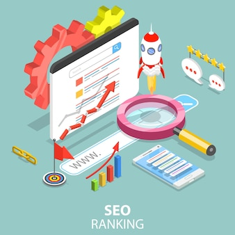Flat isometric concept of search engine ranking