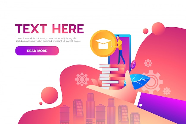 Flat isometric education online  design concept.