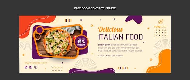 Flat italian social media cover template