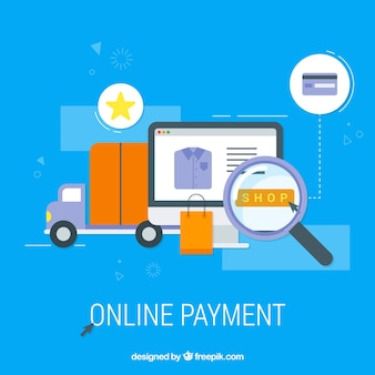 Flat items about online payment