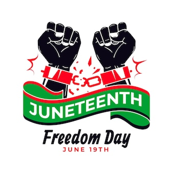 Flat juneteenth illustration