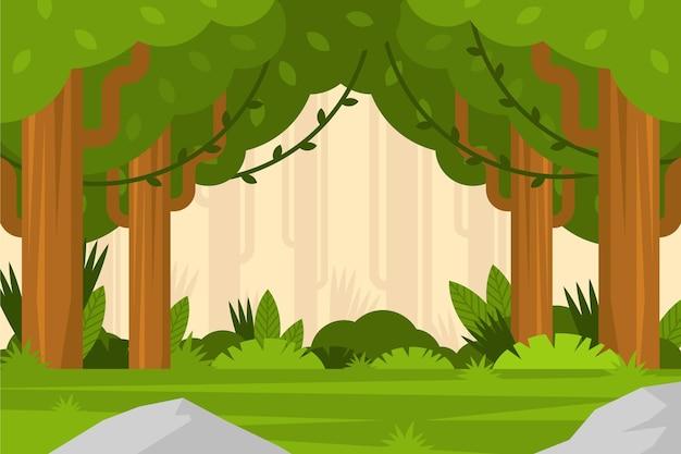 フラットジャングルの背景
