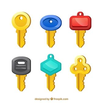Коллекция плоских ключей