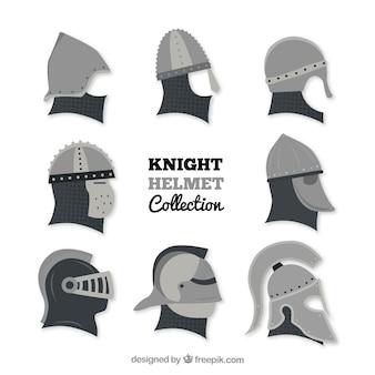Коллекция плоских рыцарских шлемов